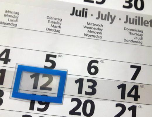 12in12 - Familienalltag - Kalender Juli
