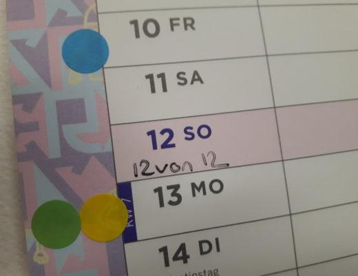 12von12 - Titelbild - Kalender