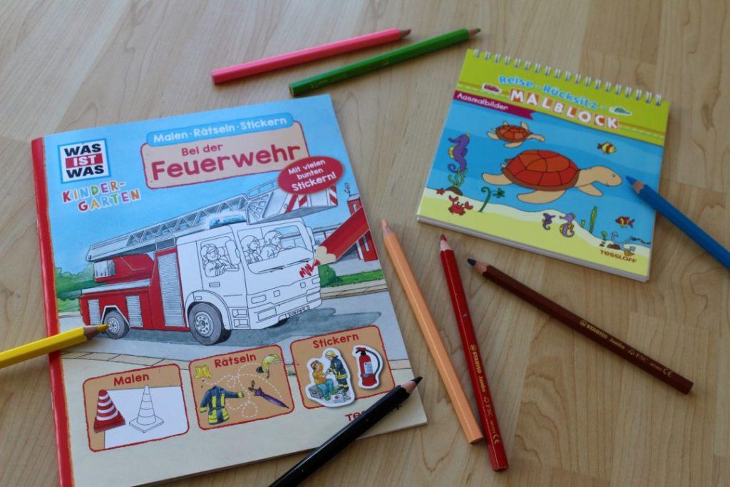 Tessloff Verlag - Malblock für Autofahrten