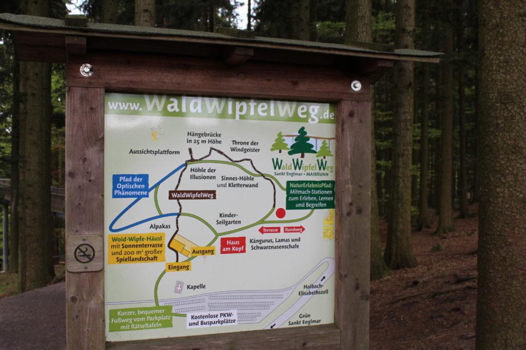Wald Wipfel Weg - Wegenetz