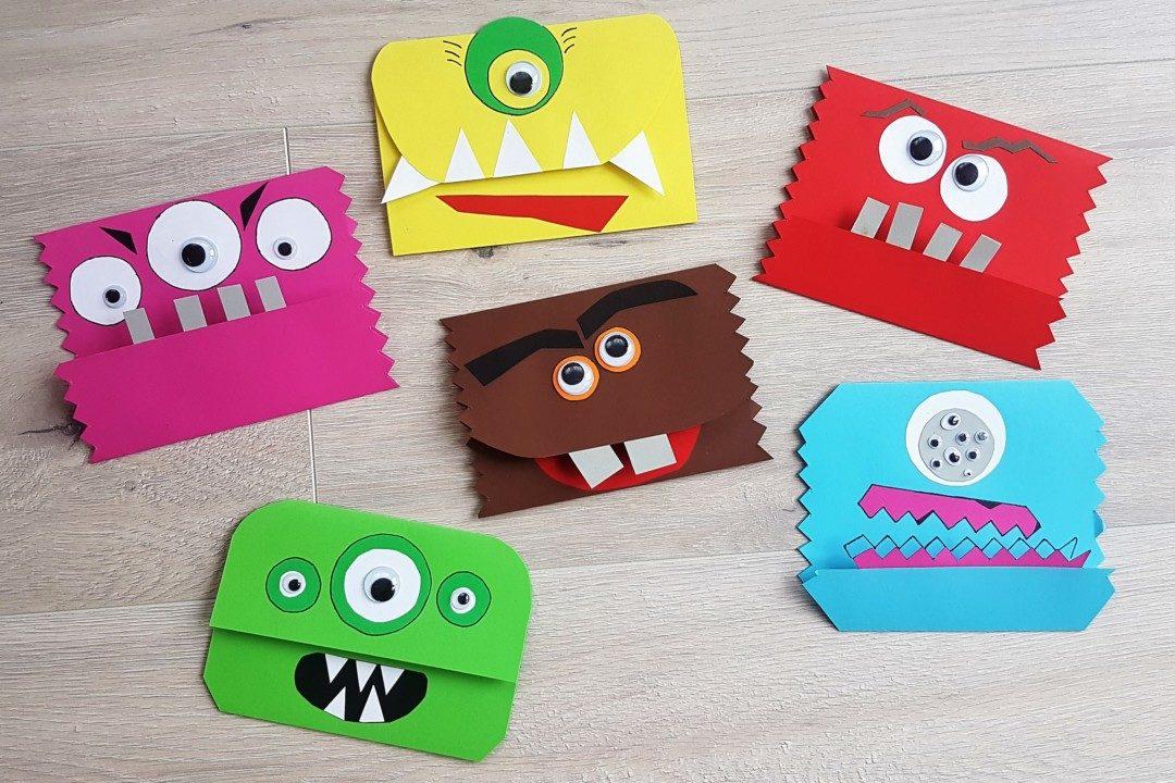 Einladungskarten Basteln Für Die Monsterparty Mama Geht Online