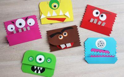 Einladungskarten basteln für die Monsterparty