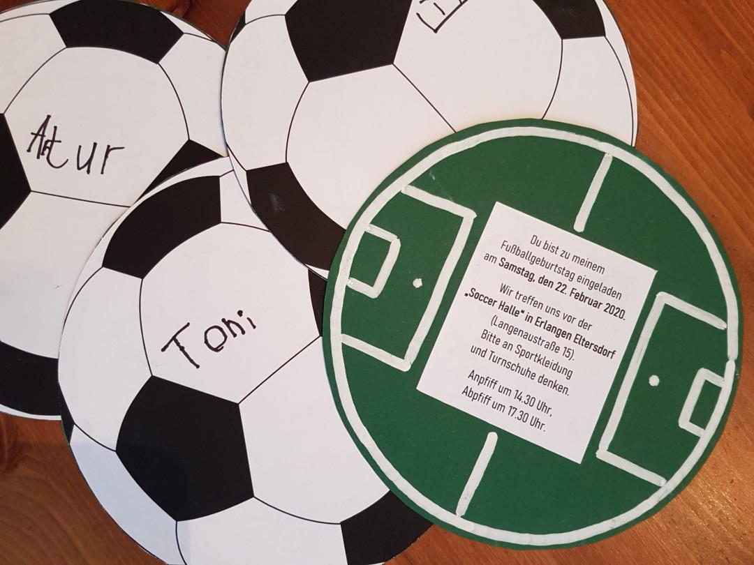 Diy Einladungskarten Zur Fussballparty Creadienstag
